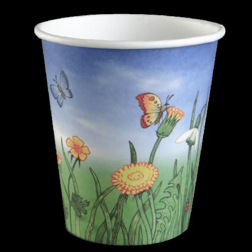 100% composteerbaar, Bio-Natuur beker, vanuit voorraad leverbaar