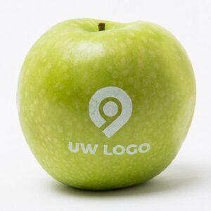 groene appel met uw logo