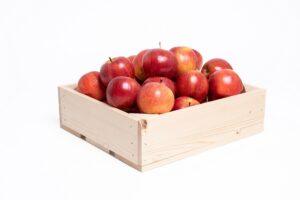 25 rode appels in kist