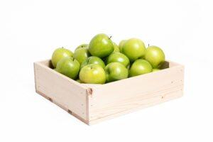 25 groene appels in kist