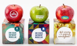 appel per stuk in giftbox